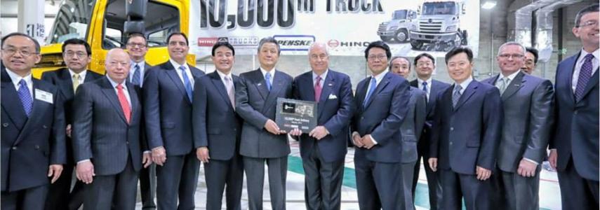 Penske Receives 10,000th Hino Truck